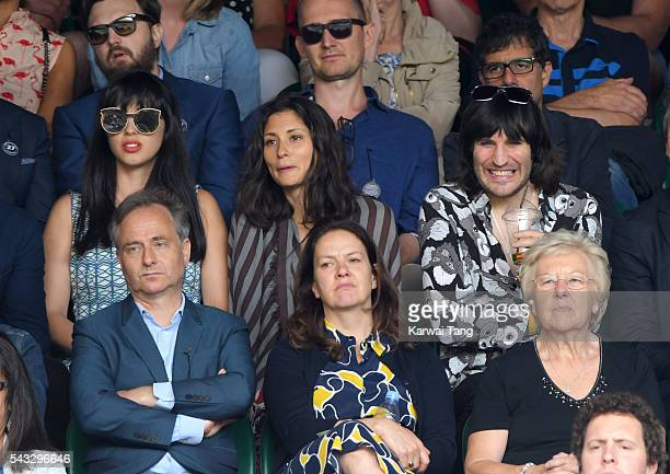 Jameela Jamil Jasmine Hemsley and Noel Fielding attend day one of the Wimbledon Tennis Championships at Wimbledon on June 27 2016 in London England