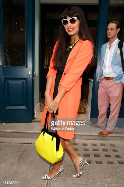 Jameela Jamil seen arriving at Library members club launch on June 25 2014 in London England