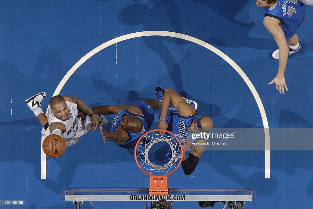 <a gi-track='captionPersonalityLinkClicked' href=/galleries/search?phrase=Jameer+Nelson&family=editorial&specificpeople=202057 ng-click='$event.stopPropagation()'>Jameer Nelson</a> #14 of the Orlando Magic goes up for the layup against the Dallas Mavericks during the game on January 20, 2013 at Amway Center in Orlando, Florida.