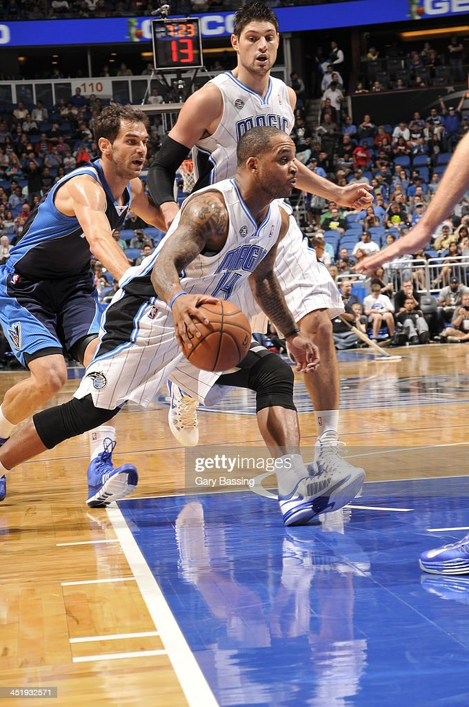<a gi-track='captionPersonalityLinkClicked' href=/galleries/search?phrase=Jameer+Nelson&family=editorial&specificpeople=202057 ng-click='$event.stopPropagation()'>Jameer Nelson</a> #14 of the Orlando Magic handles the ball against the Dallas Mavericks on November 16, 2013 at Amway Center in Orlando, Florida.