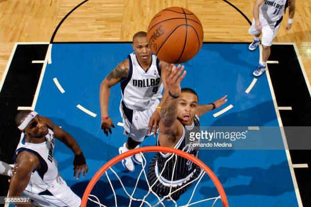 Jameer Nelson of the Orlando Magic shoots against the Dallas Mavericks during the game on February 19 2010 at Amway Arena in Orlando Florida NOTE TO...