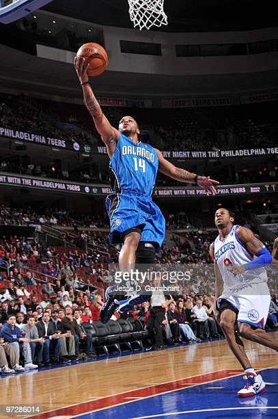 Jameer Nelson of the Orlando Magic shoots against the Philadelphia 76ers during the game on March 1 2010 at the Wachovia Center in Philadelphia...