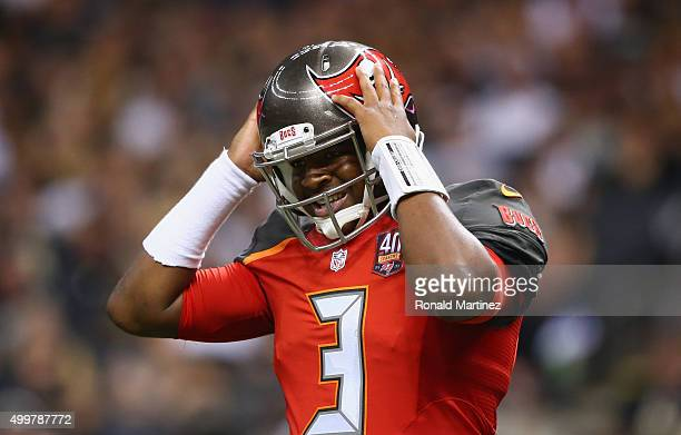Jameis Winston of the Tampa Bay Buccaneers at MercedesBenz Superdome on September 20 2015 in New Orleans Louisiana
