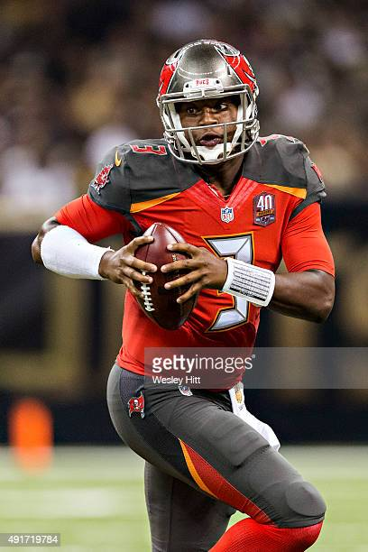 Jameis Winston of the Tampa Bay Buccaneers runs the ball during a game against the New Orleans Saints at MercedesBenz Superdome on September 20 2015...