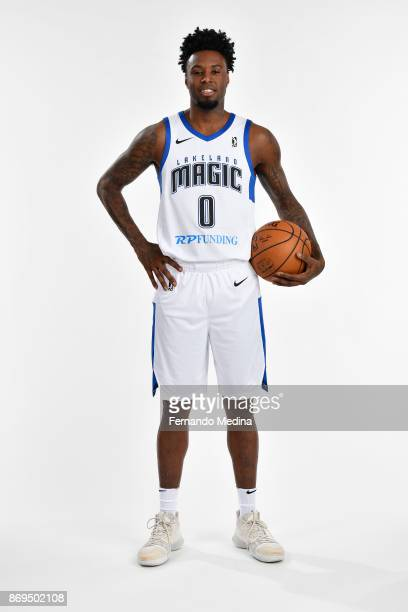 Jamel Artis of the Lakeland Magic poses for a portrait during the NBA GLeague media day on November 1 2017 at RP Funding Center in Lakeland Florida...