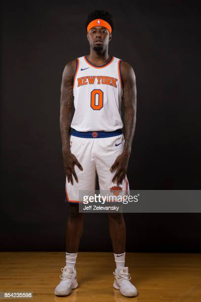 Jamel Artis of the New York Knicks is photographed at New York Knicks Media Day on September 25 2017 in Greenburgh New York