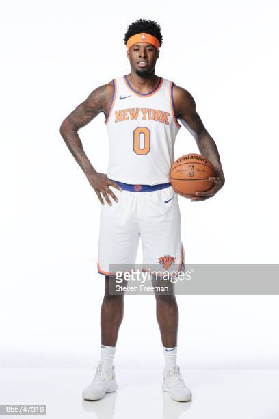 Jamel Artis of the New York Knicks poses for a portrait during Media Day on September 25 2017 at the Knicks Practice Center in Tarrytown New York...