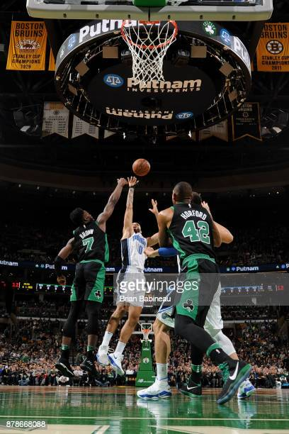 Jamel Artis of the Orlando Magic shoots the ball during the game against the Boston Celtics on November 24 2017 at the TD Garden in Boston...