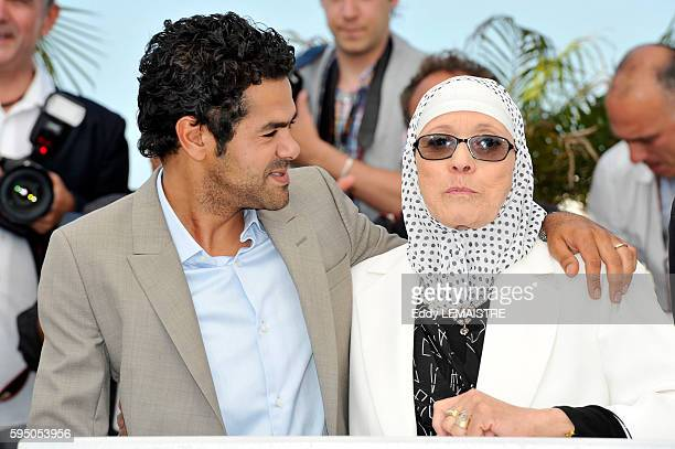 Jamel Debbouze and Chafia Boudraa at the photo call for Outside Of The Law during the 63rd Cannes International Film Festival