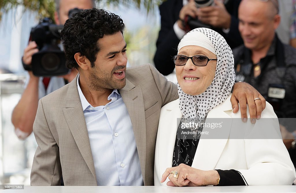 Jamel Debbouze and Chafia Boudraa attend the 'Outside Of The Law' Photocall at the Palais des Festivals during the 63rd Annual Cannes Film Festival on May 21, 2010 in Cannes, France.