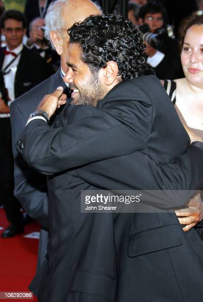 Jamel Debbouze and Rachid Bouchareb during 2006 Cannes Film Festival 'Indigenes' Premiere at Palais des Festival in Cannes France