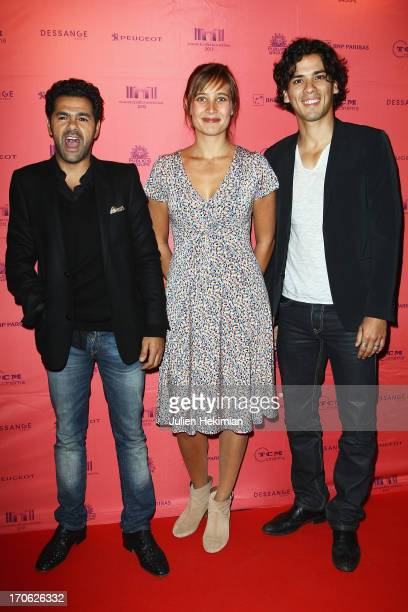 Jamel Debbouze Julie de Bona and Tewfik Jallab attend 'Ne Quelque Part' Premiere As Part of The Champs Elysees Film Festival 2013 at UGC George V on...