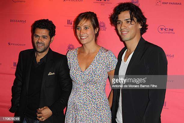 Jamel Debbouze Julie De Bona and Tewfik Jallab attend the 'Ne Quelque Part' Premiere As Part of The Champs Elysees Film Festival 2013 at UGC George V...