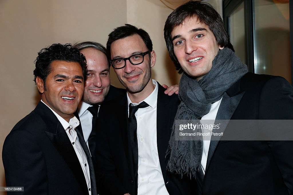 Jamel Debbouze, Matthieu Delaporte and Dimitri Rassam attend the Cesar Film Awards 2013 at Le Fouquet's on February 22, 2013 in Paris, France.