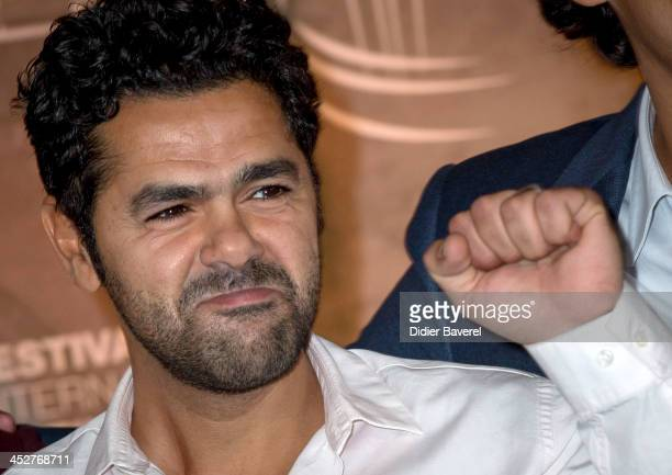 Jamel Debbouze poses during the photocall of 'La Marche'at 13th Marrakech International Film Festival on December 1 2013 in Marrakech Morocco