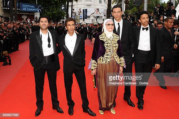 Jamel Debbouze Rachid Bouchareb Chafia Boudraa Roschdy Zem and Sami Bouajila attend the 'Outside of the law' Premiere during the 63rd Cannes...