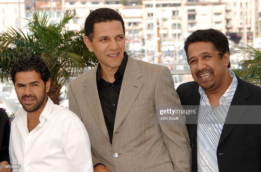 Jamel Debbouze, Roschdy Zem and Khaled during 2006 Cannes Film Festival - 'Indigenes' - Photocall at Palais des Festival in Cannes, France.