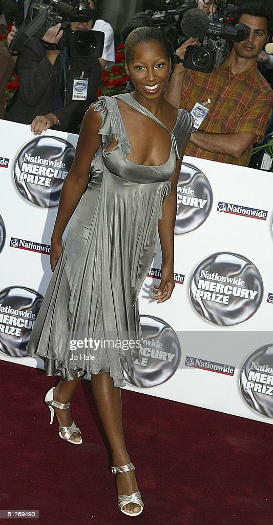 Jamelia arrives at the annual 'Nationwide Mercury Music Prize' at the Grosvenor House on September 7, 2004 in London. Making the 12-album shortlist this year are Basement Jaxx (Kish Kash), Belle & Sebastian (Dear Catastrophe Waitress), Franz Ferdinand (Franz Ferdinand), Jamelia (Thank You), Keane (Hopes and Fears), Snow Patrol (Final Straw), Joss Stone (The Soul Sessions, The Streets (A Grand Don't Come For Free), Ty (Upwards), Amy Winehouse (Frank), Robert Wyatt (Cuckooland) and The Zutons (Who Killed The Zutons).