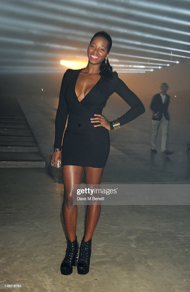 Jamelia arrives at the Warner Music Group Pre-Olympics Party in the Southern Tanks Gallery at the Tate Modern on July 26, 2012 in London, England.