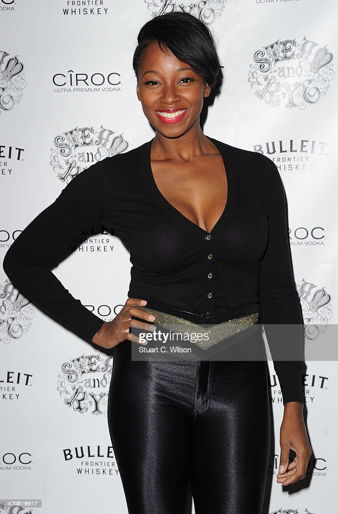 <a gi-track='captionPersonalityLinkClicked' href=/galleries/search?phrase=Jamelia&family=editorial&specificpeople=171461 ng-click='$event.stopPropagation()'>Jamelia</a> arrives for the 'Steam and Rye' Restaurant launch party on November 19, 2013 in London, England.