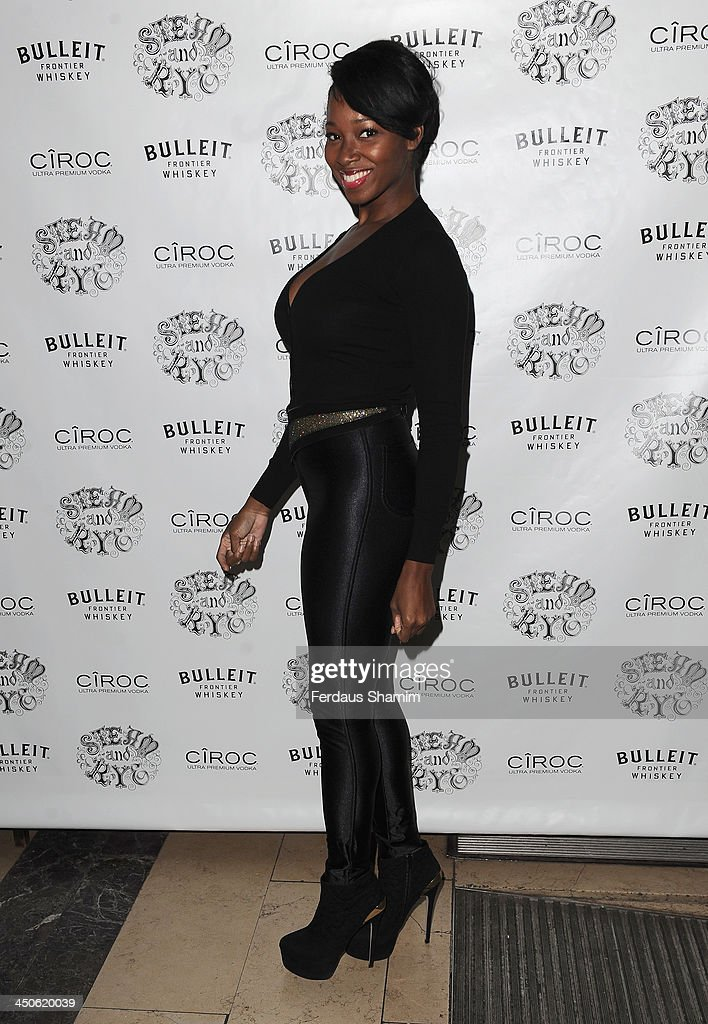 Jamelia arrives for the 'Steam and Rye' resturent launch party on November 19, 2013 in London, United Kingdom.