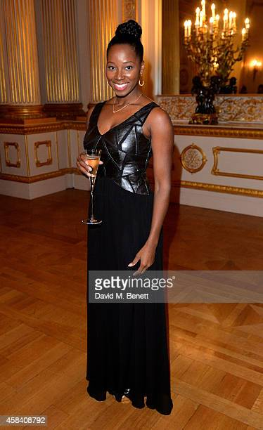 Jamelia attends the Bell Pottinger Charity Dinner hosted for Northwood African Education Foundation at Lancaster House on November 4 2014 in London...