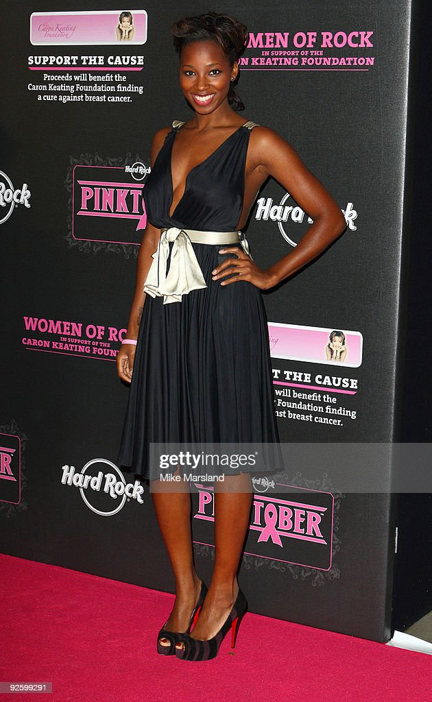 Jamelia attends the PINKTOBER Women Of Rock Charity Concert at Royal Albert Hall on November 1 2009 in London England