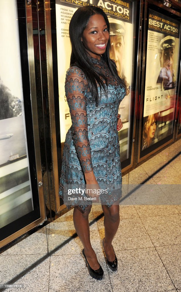 Jamelia attends the UK Premiere of 'Flight' at the the Empire Leicester Square on January 17, 2013 in London, England.