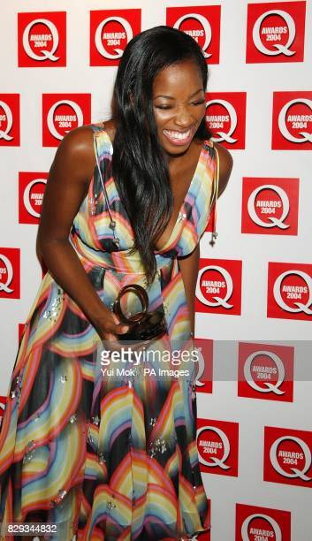 Jamelia receives the Best Single award for 'See It In A Boy's Eyes' during the 15th annual Q Awards at Grosvenor House in London's Park Lane Jonathan...