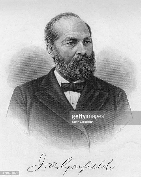 James Abram Garfield 20th President of the United States circa 1870 From a photograph by J E Byder