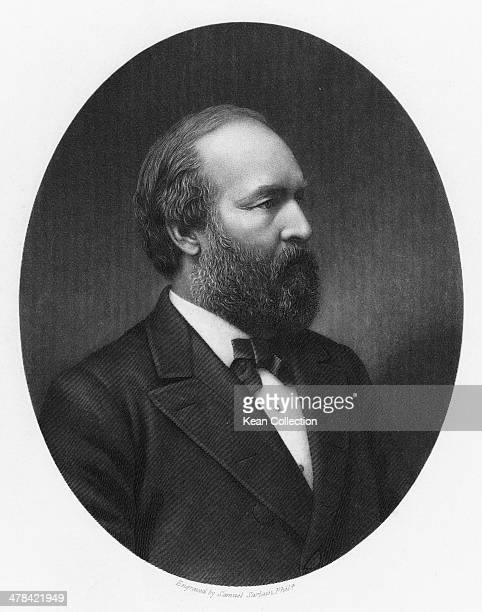 James Abram Garfield 20th President of the United States circa 1881 Engraved by Samuel Sartain of Philadelphia