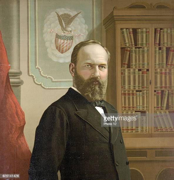 James Abram Garfield 20th President of the United States of America Shot on 2 July be died of his wounds on 19 September by Charles J Guiteau after...