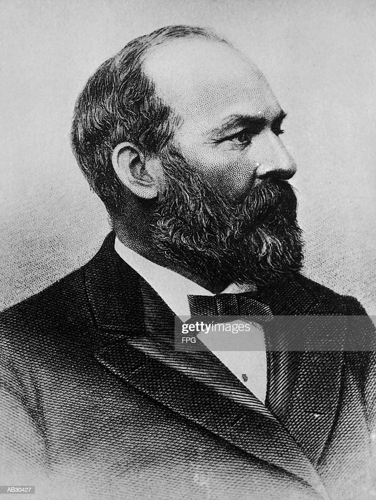 James Abram Garfield (1831-81), 20th US President (B&W) : Stock Photo