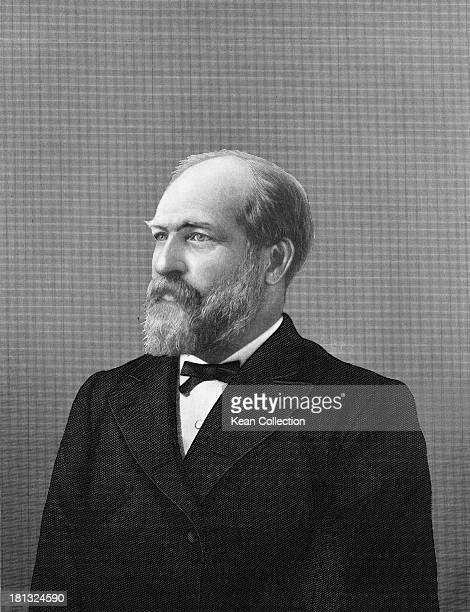 James Abram Garfield circa 1865 He served as the 20th President of the United States in 1881 Engraved by H C Koevoets New York