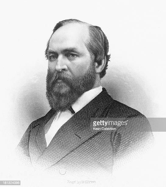 James Abram Garfield US Representative from Ohio circa 1863 He served as the 20th President of the United States in 1881 Engraved by R O'Brien