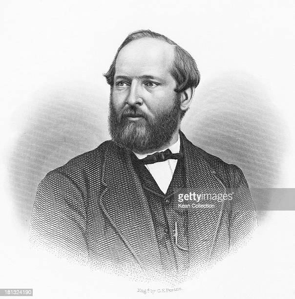 James Abram Garfield US Representative from Ohio circa 1863 He served as the 20th President of the United States in 1881 Engraved by George E Perine