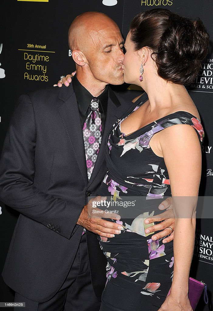 James Achor and <a gi-track='captionPersonalityLinkClicked' href=/galleries/search?phrase=Heather+Tom&family=editorial&specificpeople=208780 ng-click='$event.stopPropagation()'>Heather Tom</a> attend 39th Annual Daytime Emmy Awards at The Beverly Hilton Hotel on June 23, 2012 in Beverly Hills, California.