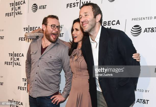 James Adomian Andie MacDowell and Chris O'Dowd attend the 'Love After Love' premiere during the 2017 Tribeca Film Festival at SVA Theatre on April 22...