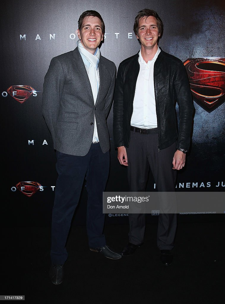 James and <a gi-track='captionPersonalityLinkClicked' href=/galleries/search?phrase=Oliver+Phelps&family=editorial&specificpeople=810288 ng-click='$event.stopPropagation()'>Oliver Phelps</a> attend the 'Man Of Steel' Australian Premiere at Event Cinemas, George Street on June 24, 2013 in Sydney, Australia.