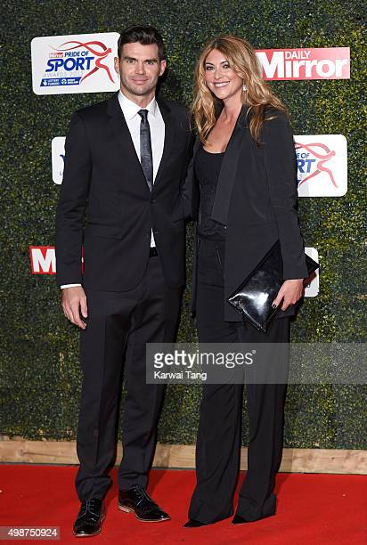 James Anderson and Daniella Anderson attend the Daily Mirror Pride Of Sport Awards at Grosvenor House on November 25 2015 in London United Kingdom