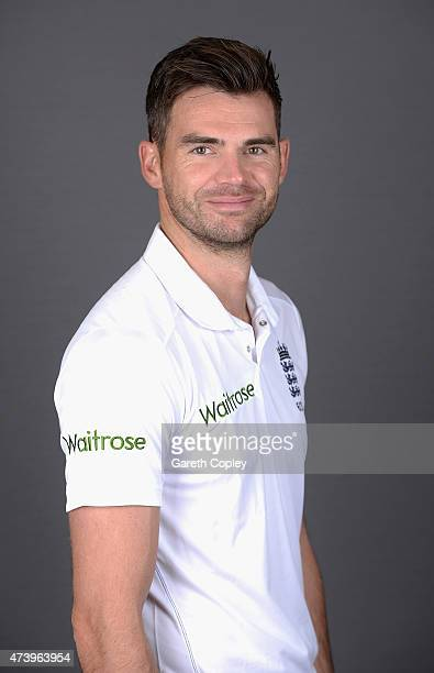 James Anderson of England poses for a portrait at Lord's Cricket Ground on May 19 2015 in London England