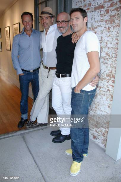 James Anderson Steven Gambrel Tim O'Brien and Adrian Albino attend Opening Reception for JOHN JONAS GRUEN at Gallery B on July 17 2010 in Sag Harbor...