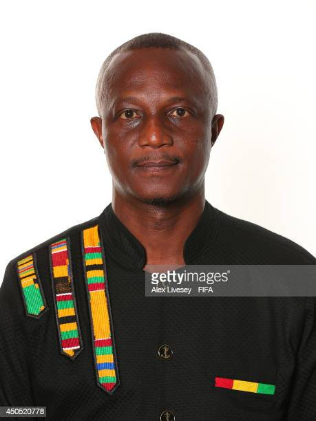 James Appiah the coach of Ghana poses during the official FIFA World Cup 2014 portrait session on June 11 2014 in Maceio Brazil