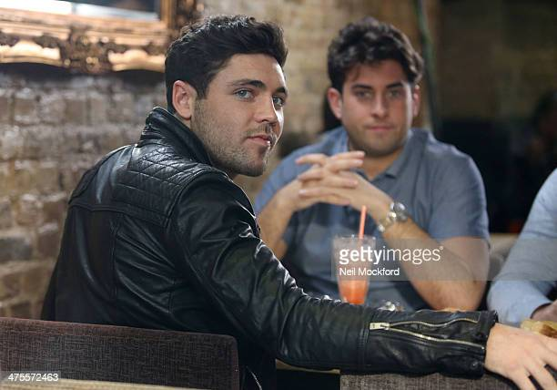 James 'Arg' Argent and Tom Pearce seen filming TOWIE in South Woodford on February 28 2014 in London England