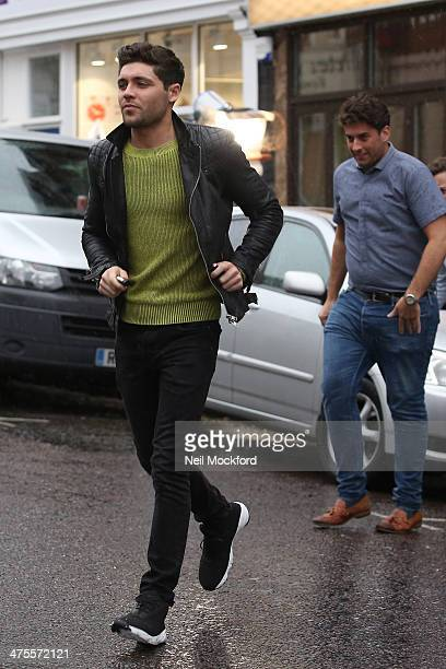 James 'Arg' Argent and Tom Pearceseen filming TOWIE in South Woodford on February 28 2014 in London England
