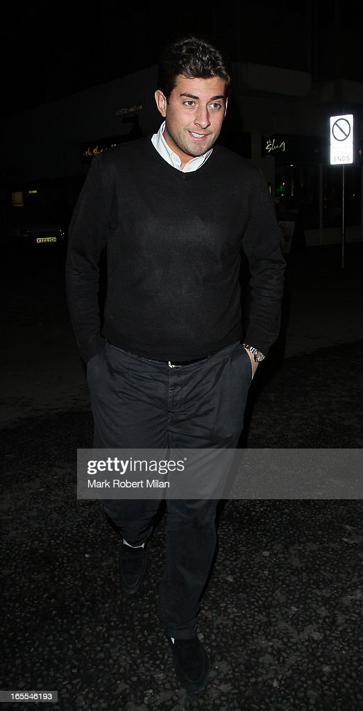 James Argent at the Sugar Hut Brentwood on April 4, 2013 in London, England.