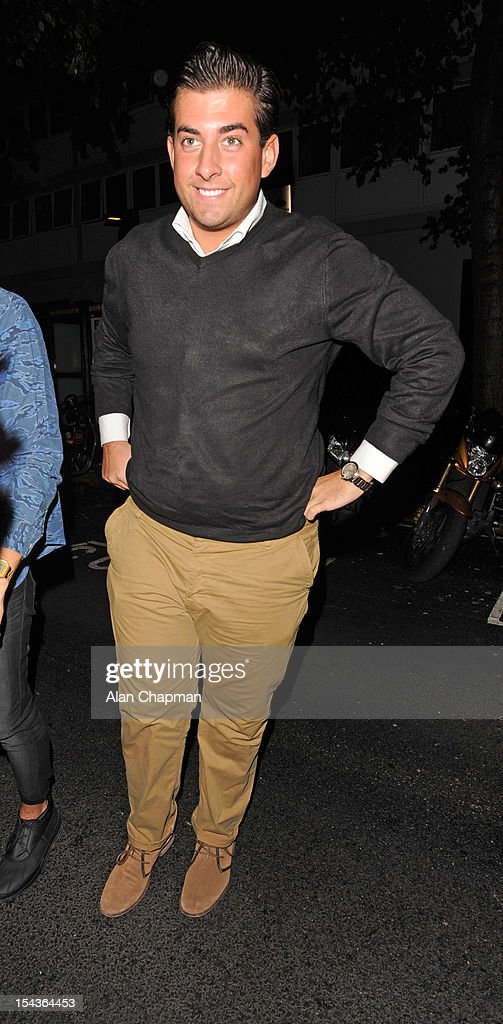 James Argent attends the Love Perfume Awards on October 18, 2012 in London, England.