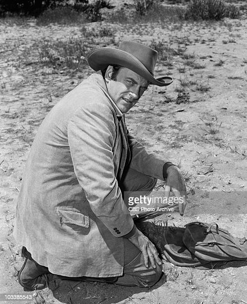 GUNSMOKE James Arness as Marshal Matt Dillon in 'Kitty's Outlaw' Image dated May 3 1957