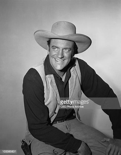 GUNSMOKE James Arness as Marshal Matt Dillon in 'Sins of our Fathers' Image dated October 5 1956