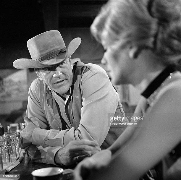 James Arness as Matt Dillon and Betty Hutton as Molly McConnell on the GUNSMOKE episode 'Bad Lady from Brookline' Image dated February 23 1965